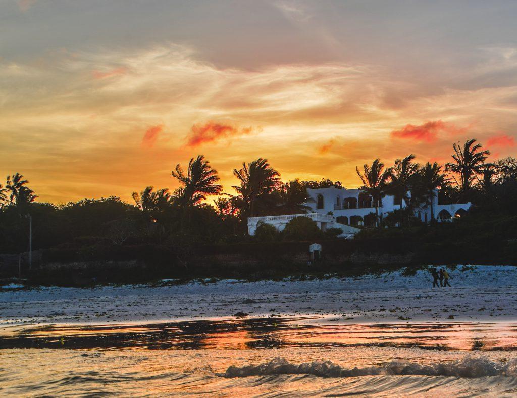 Beautiful sunset captured Bofa Beach, Kenya