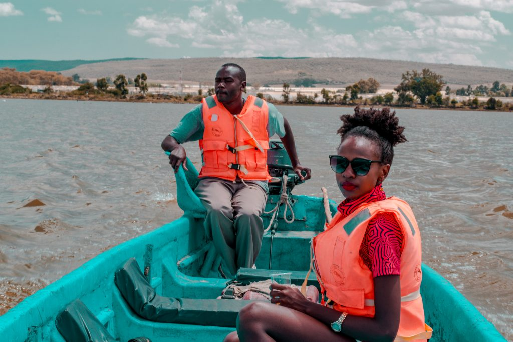 boatride across lake Naivasha