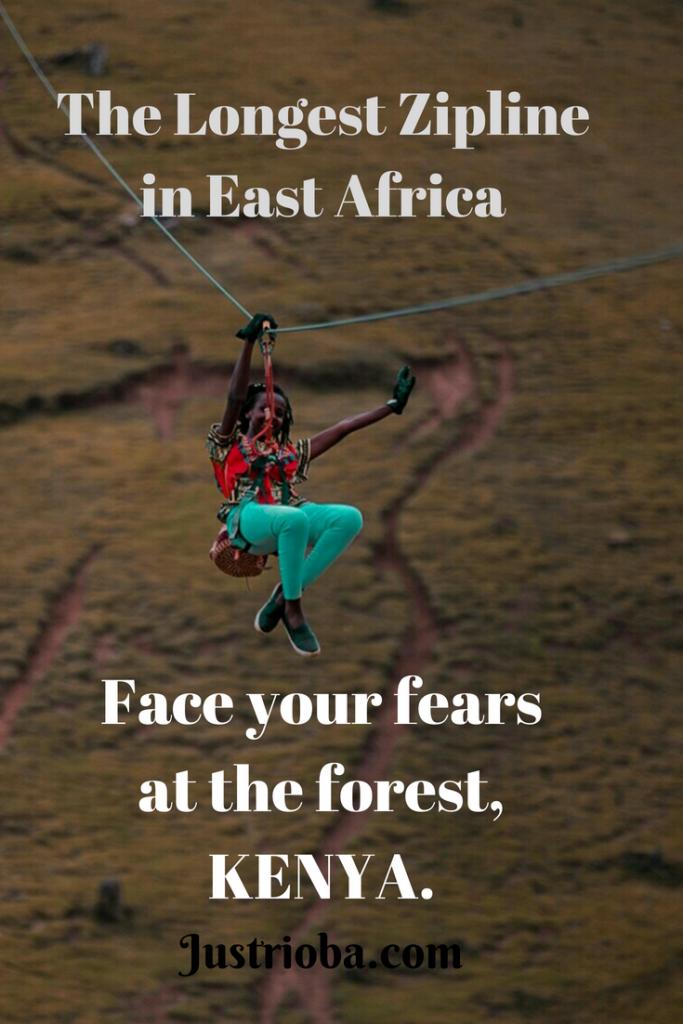 Ziplining at the forest, Kereita Kenya