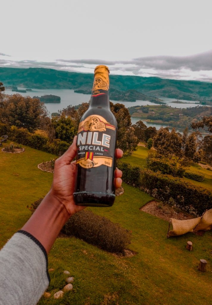 Sampling Ugandan beer