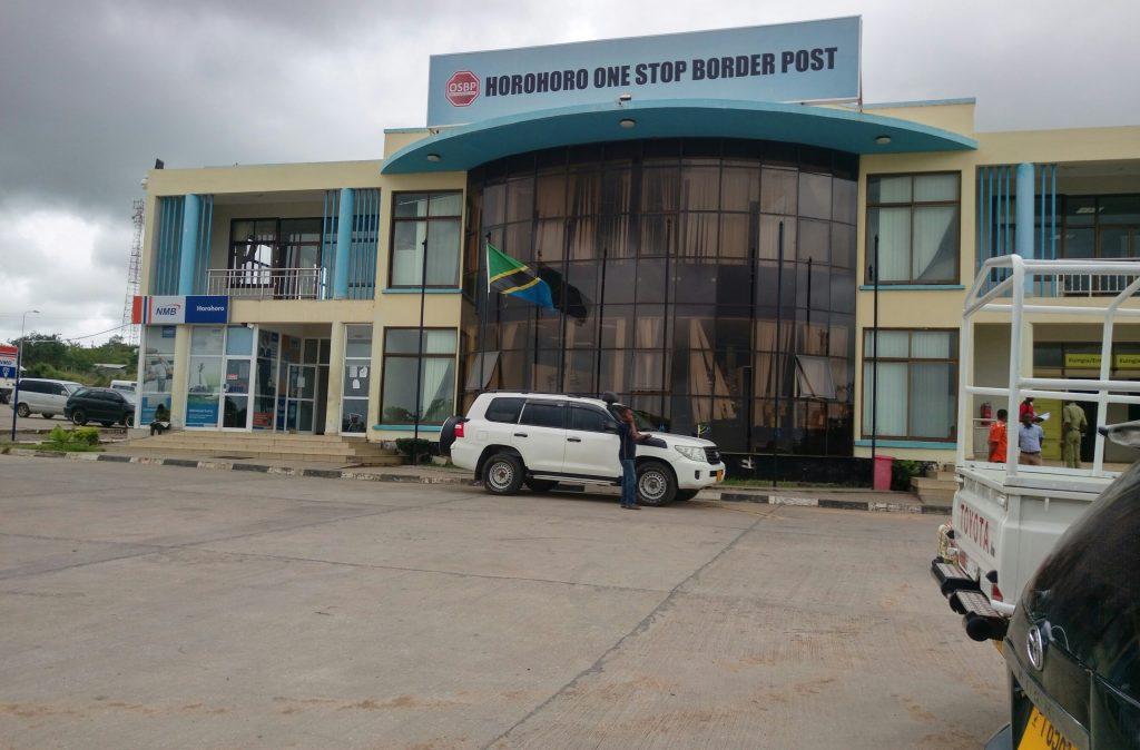 Crossing the Horohoro border, Tanzania