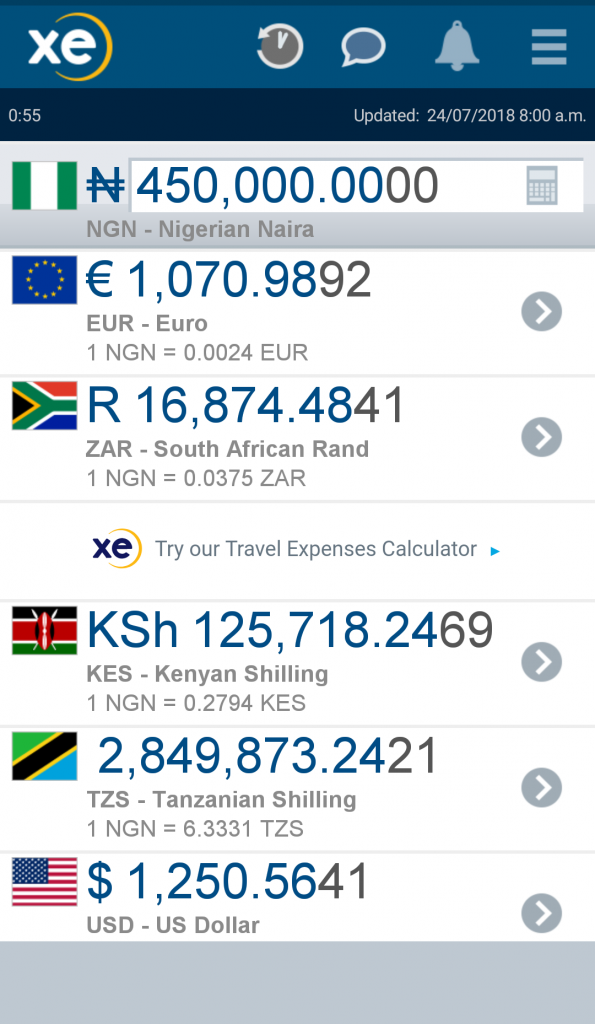 Apps travelers need xe currency converter