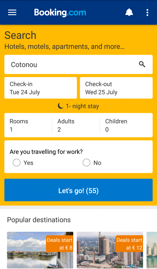 Apps travelers need booking.com